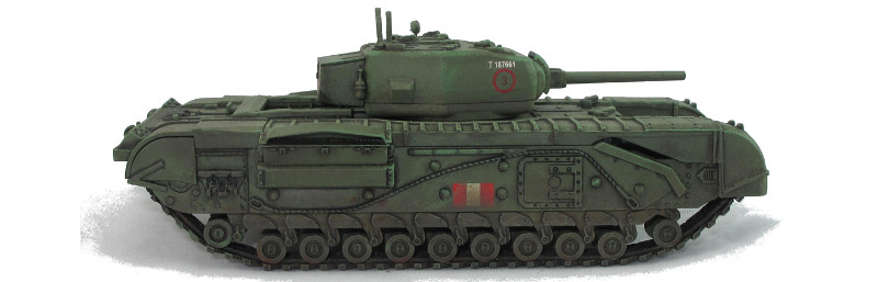 Warlord plastic Churchill tank review